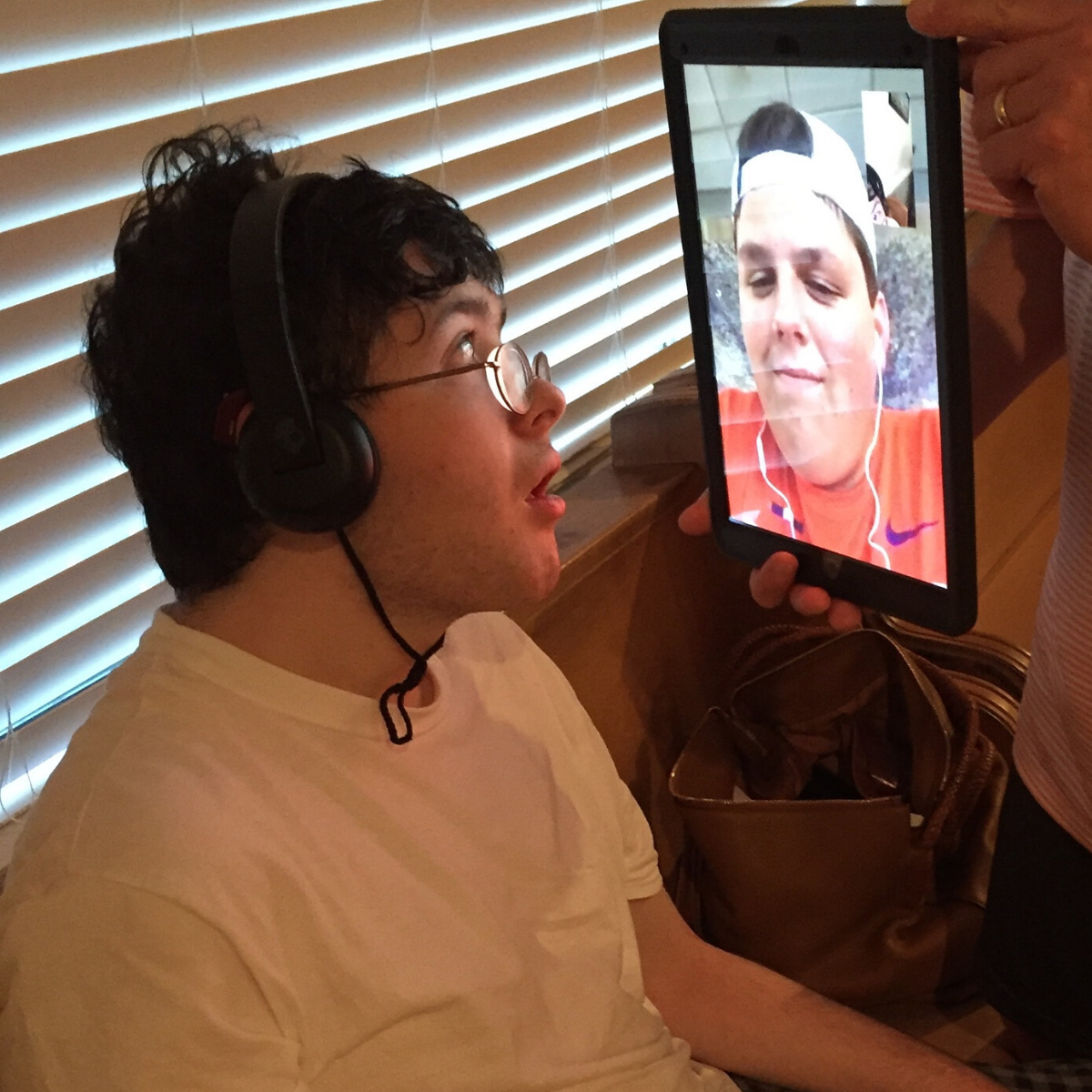 Jack facetiming a friend.