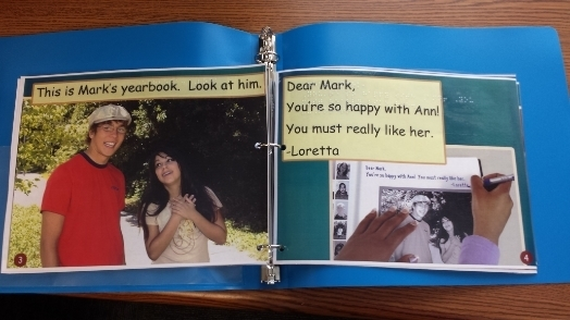 Photo of hand made yearbook.