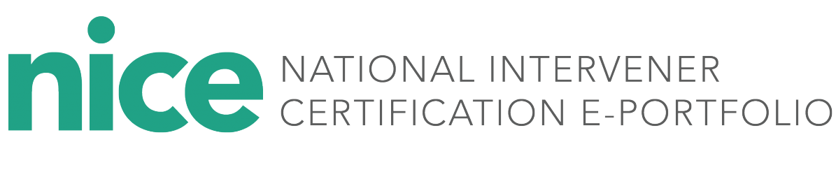 NICE - National Intervener Certification E-Portfolio Logo